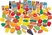 114 Piece Plastic Pretend Food Toy Play Set