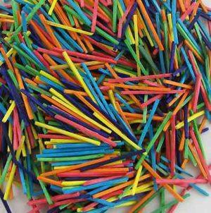 1000 Coloured Wooden Headless Matchsticks - 7063-1000