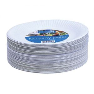 100 Pack 7 Inch Paper Plates KCP1007