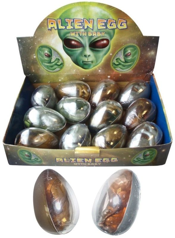 1 Large Space Alien Egg With Putty And Baby - N14 100