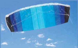 120cm Blue Frameless Parafoil Stunt Kite