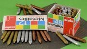 12 Scola Metallic Gold Silver Bronze Crayons - VX12M/GSB