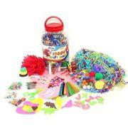 Children's Mega Plastic Craft Jar Pink 15-0298/Pink