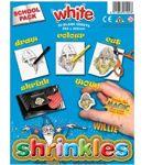 School Pack 20 Large White Shrinkles Shrink Art Plastic 1502
