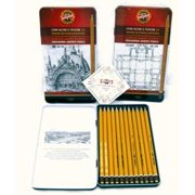 Graphic' Graphite Drawing And Sketching Pencils 5b To 5h (tin 12) 1502/III