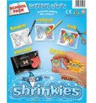 School Pack 20 Large Crystal Clear Shrinkles Shrink Plastic Art 1503