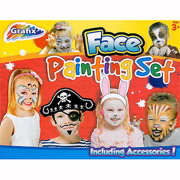 Childrens Party Fun Face Painting Set & Accessories