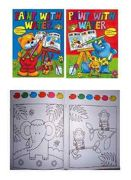 4x Children's A4 Watercolour Magic Painting Books Palette On Every Page