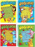 Set Of 12 X A6 Party Bag Favours 64 Page Word Search Books - 2095-SPL1