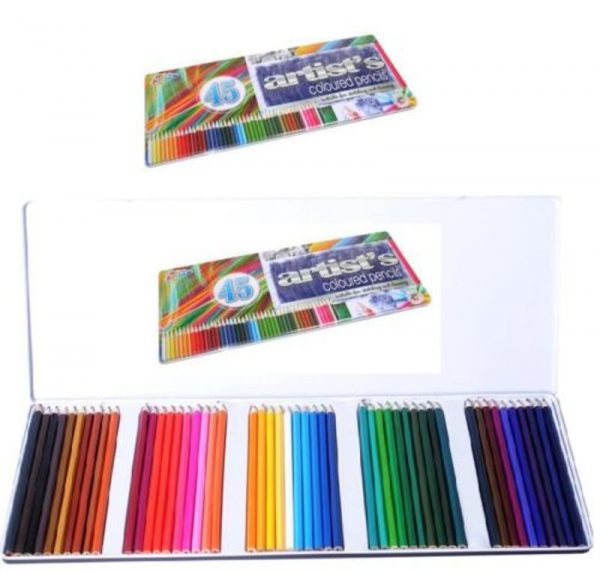 Set Of 45 Colouring Pencils In Storage Tin - 21-0161