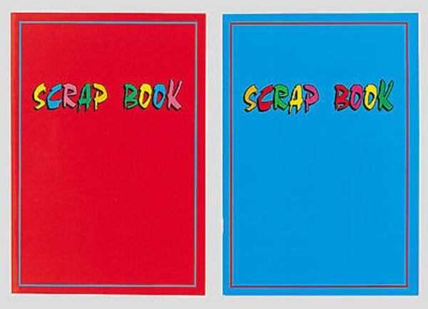 2 Scrapbooks Grey Sugar Paper 32 Pages Laminated 1 Red 1 Blue - 222-SPL1