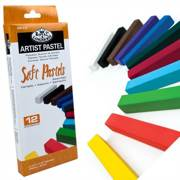Pk Of 12 Assorted Soft Pastels Artist Quality Colour Pigment Cpa-12