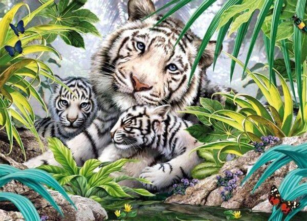 King Siberian Tigers 1000 Piece Jigsaw Puzzle 05486