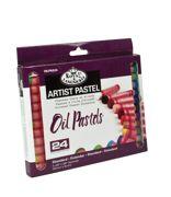 Pk Of 24 Assorted Oil Pastels Artist Quality Colour Pigments Oilpa-524
