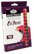 Pk Of 12 Assorted Large Oil Pastel Quality Colour Pigments Oilpa-612