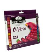 Pk Of 24 Assorted Large Oil Pastel Quality Colour Pigments Oilpa-624