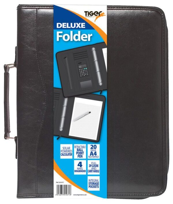 A4 Deluxe Black Executive Conference Folder & Calculator