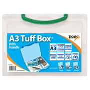 Green A3 Clear Plastic File Storage Tuff Box
