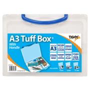 Blue A3 Clear Plastic File Storage Tuff Box