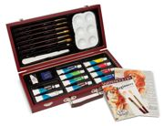 22 Piece Watercolour Paint And Brush Set In Box WAT3000