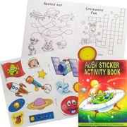 Children's Alien Ufo Activity Sticker Book Party Favour - 3080-ALISAB-SPL1