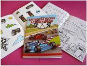 Children's Race Car Activity Sticker Book Party Favour - 3080-CARSAB_SPL1