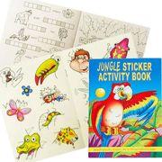A6 Jungle Animals 36 Page Activity Colour Sticker Book - 3080-JUNSAB-SPL1