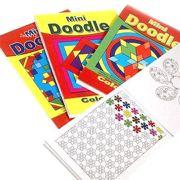 4 x Mini Children's Doodle Colouring Books 44 Designs Per Book - 3095-SPL1