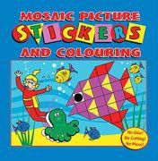 Blue Mosaic Sticker Create & Colour Book - 3105-SPL3