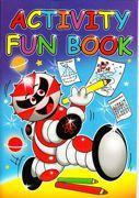 A4 Children's Size Activity Fun Book Blue - 3205-SPL2