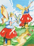 A4 Painting By Numbers Kit - Flower Fairies PJS20