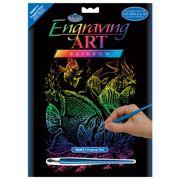 Tropical Fish Rainbow Foil Regular Size Engraving Art Scraperfoil