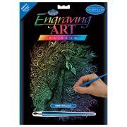 Peacock Rainbow Foil Regular Size Engraving Art Scraperfoil