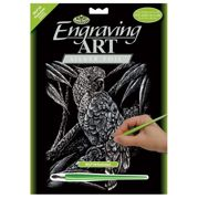 Cockatoo Silver Regular Size Engraving Art Scraperfoil