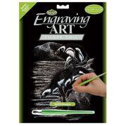 Penguins Silver Regular Size Engraving Art Scraperfoil