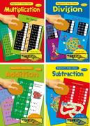 4x A4 Wipe Clean Maths Books