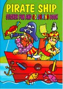A4 Size Pirate Sticker And Colouring Book Green - 4015-SPL1