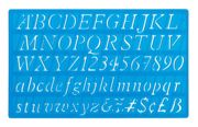 20mm Italic Letters Stencil Template With Alphabet And Numbers - 40006