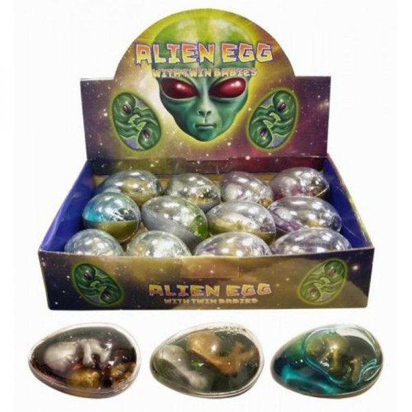 Alien Egg With Baby Twins Assorted Colours - N14 154