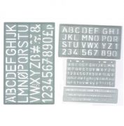 Set Of Four Lettering Stencils With Alphabet And Numbers - LST/2