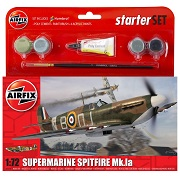 Airfix Supermarine Spitfire Mk.Ia WWII Scale Model Starter Set 1:72 A55100