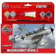 Airfix Messerscmitt Bf 109E-3 WWII Scale Model Starter Set 1:72 A55106