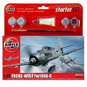 Airfix Focke-Wulf Fw190A-8 WWII Scale Model Starter Set 1:72 A55110
