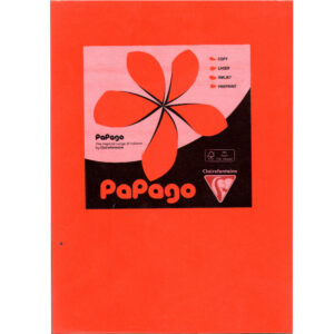 A4 Bright Orange Card 160gsm Ream of 250 Sheets