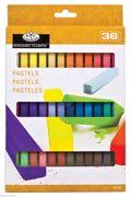36 Coloured Artist Soft Square Sketching Pastels