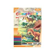 A5 Colour Sketching Made Easy Kits Drawing Kit - Dinosaurs