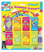 8 x Fruit Scented Smelly Erasers