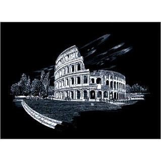 Colosseum Silver Foil Large Size Engraving Art Scraperfoil