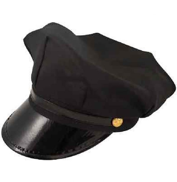 Black Chauffeur & Limo Driver Hat One Size Fits All - H36 442