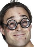 Geek Nerd Wally Potter Wizard Thick Rimmed Fancy Dress Glasses Spectacles